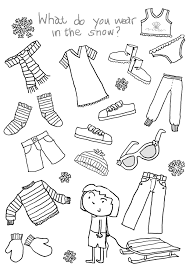 clothes for the cold winter coloring pages ideas collection winter
