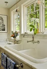 Antique Porcelain Kitchen Sink Traditional The Return Of High Back Farmhouse Sink On Kitchen