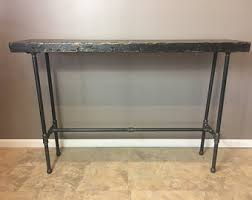 Metal Entry Table Hallway Table Etsy