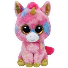 ty beanie boos fantasia unicorn glitter eyes large size