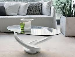 Glass Oval Coffee Table Interesting Glass Oval Coffee Tables With Modern Home Interior