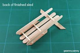 popcycle stick sled ornament tutorial craft for the crafts