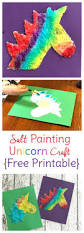 watercolor salt painting unicorn craft for kids sweet t makes three