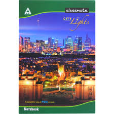 classmate note books itc classmate bound notebook 330 x 210 unruled 400 pages