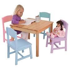 kidkraft seaside kids u0027 5 piece table and chair set u0026 reviews wayfair