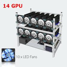 how to open a miner s l stackable open air mining rig frame miner case 10 led fans for 14