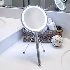 Amazon Vanity Mirror Amazon Com Pure Enrichment Led Lighted Double Sided Makeup