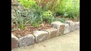 Garden Rock Wall by Garden Ideas Stone Garden Edging Ideas Youtube