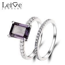 fine gemstone rings images Leige jewelry lab alexandrite engagement rings 925 sterling silver jpg