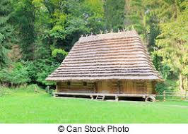 stock images of roofing a house with traditional thatched straw