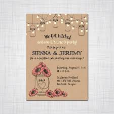 what does rsvp mean in english on an invitation rustic mason jar elopement invitation casual event invitation