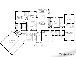 popular floor plans main floor plan of mascord plan 1248a the bishop in law suite