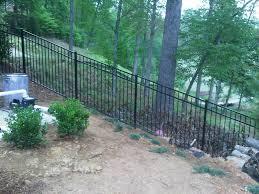Steep Hill Backyard Ideas Adding A Fence On A Sloped Back Yard Fence On Steep Hill