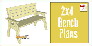 2x4 bench plans step by step material list