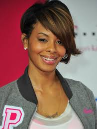 pictures of cute short hairstyles for black women with side bangs