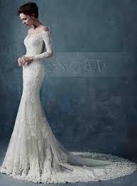 wedding dress lace top trumpet naf dresses