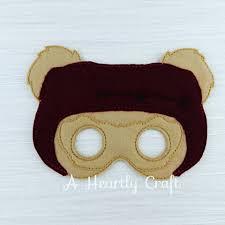 bear halloween mask star wars mask star wars costume ewok mask teddy bear masks star