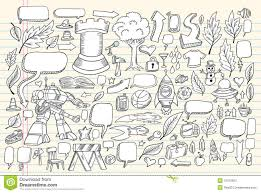 notebook doodle sketch vector set stock photography image 15010822