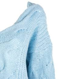 light blue cable knit sweater light blue cable knit back oversized sweater choies com
