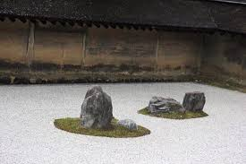 the famous dry rock garden picture of ryoanji temple kyoto