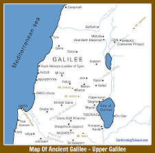 A New Map Of Jewish by Map Of Ancient Roman Galilee Upper U0026 Lower Galilee