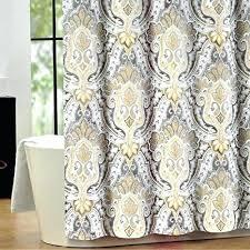 Yellow And White Shower Curtain Yellow Gray And White Shower Curtains Yellow And Grey Curtains