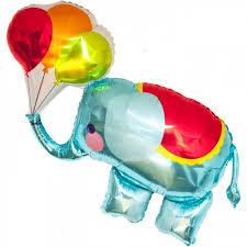 circus balloon circus elephant foil balloon candle cake party shop