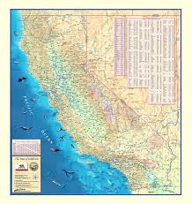 Cal State Map by Colorful California Wall Map