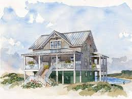 beach house floor plans stilts low country plan architecture