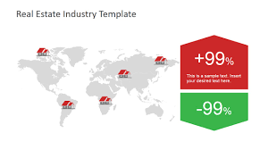 Powerpoint Real Estate Templates by World Map Real Estate Infographic For Powerpoint Slidemodel