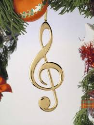 gifts notes treble clef ornament ornament for