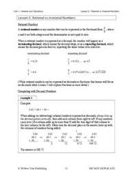 lesson plan rational numbers 28 images estimating rational