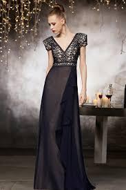 robe de soirã e chic pour mariage robe soirée à épaulettes élargies en mousseline persun fr