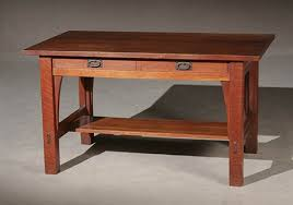 Gustav Stickley Desk Library Table 616 By Gustav Stickley On Artnet