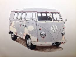volkswagen van drawing finished a drawing for a friend of mine of a vw t1 van in u2026 flickr