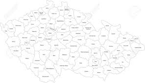 Map Of Czech Republic Map Of Administrative Divisions Of The Czech Republic Royalty Free