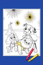 your paw patrol 4th of july coloring page nickelodeon parents