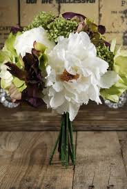 white hydrangea bouquet and hydrangea bouquet 10in