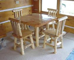 Log Dining Room Tables Log Dining Table