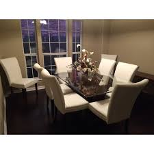 Rectangular Glass Top Dining Room Tables Furniture Of America Marion Rectangular Glass Top Dining Table