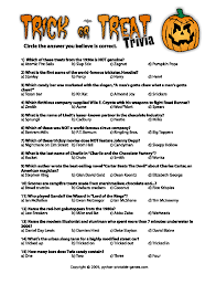 free printable thanksgiving trivia halloween trivia questions and answers