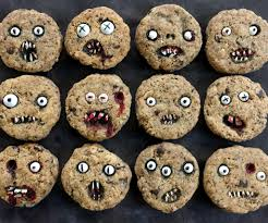 Monster Halloween Cookies by Creepy Chocolate Chip Cookies 3 Steps With Pictures