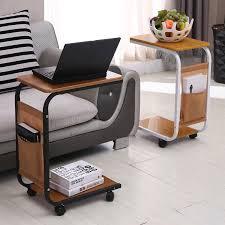 Laptop Desk With Wheels Simple Sofa Laptop Desk With Wheels To Facilitate Small Desk Desk