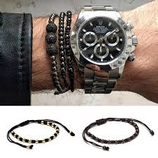 luxury bead bracelet images Braided macrame 4mm steel bead bracelet funky bead jpg