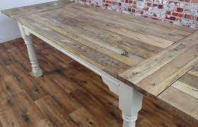 Rustic Farmhouse Dining Room Tables Extendable Rustic Farmhouse Dining Table Painted In Farrow