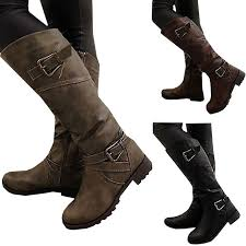 womens boots mid calf brown 2018 newest boots thigh high boots brand wearing simple