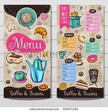 coffee shop menu template coffee shop menu template cafe menu stock vector 591871394