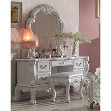 Antique White Bedroom Vanity Amazon Com 1perfectchoice Dresden Bedroom Vanity Makeup Desk