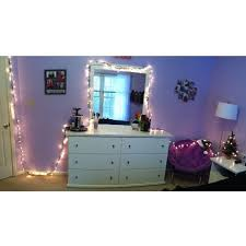 Make Up Dressers Dresser Lights Exactly What I Want Mirror Lighting Mirrored