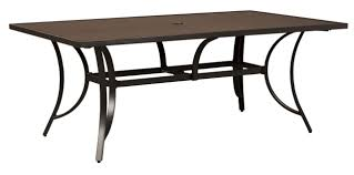 carmadelia outdoor rectangular dining table in brown p376 625 by